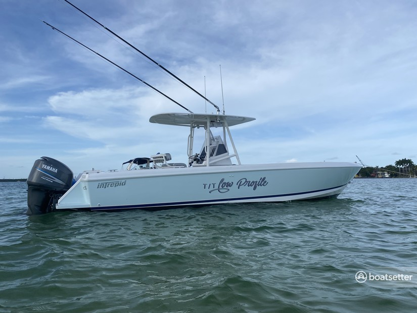 Rent a Intrepid Powerboats center console in Miami, FL near me