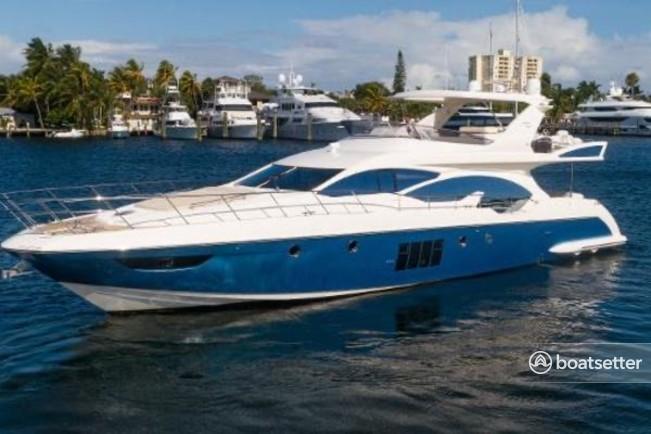 Rent a Azimut motor yacht in Sunny Isles Beach, FL near me